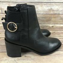 Aldo Women's Black Leather Zip Up Ankle Bootie Shoes Size 8.5 -017 Photo