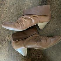 Aldo Womens Brown Booties Ankle Boots Shoes Size 7 Euro Size 38 Zip Up Low Heel Photo