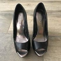 Aldo Women's Patent Leather Super Cute Sexy Peep Toe Heels Shoes Sz 36 61aj Photo