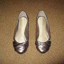Aldo Women's Pewter Colored Leather Flats Photo