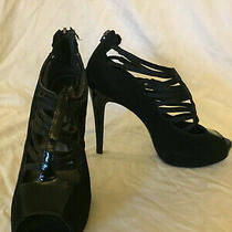 Aldo Womens Shoes Black Caged Bootie    Size 38   Us 8 Photo