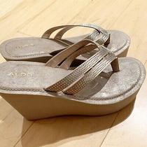 Aldo Women's Shoes Size 8.5 Cream Color Slipper High Heel Summer Shoes Photo