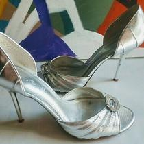 Aldo Women's Silver Rhinestone Pumps Size 38 7.5 Photo