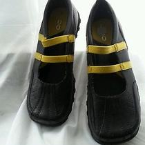 Aldo Women's Yellow & Black Leather Mary Jane Shoes Size 38/7 Like New Photo