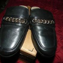 Aldo Womens 6 1/2 Black  Pointy Toe Slides Smoking Flats Shoes Photo