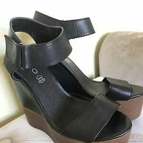 Aldo Womens Black Platform Heel Sandal Shoes Size 6.5 Photo