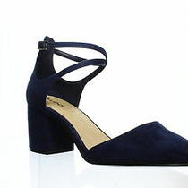 Aldo Womens Brookshear Navy Ankle Strap Heels Size 8.5 (1292538) Photo