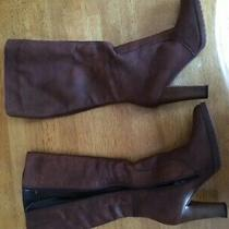 Aldo Womens Brown Leather Tall Boots  Us Size 8 Worn One Time Photo