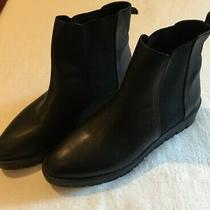 Aldo Womens Chelsea Boots Us Size 10 Eur 41 Black Leather Barely Worn Photo
