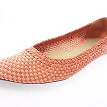 Aldo Womens Pointed Toe Ballet Flats Womens Shoes Orange/peach Size 7.5 Photo