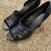 Aldo Womens Shoes - Size 38 - Black Wedges Photo