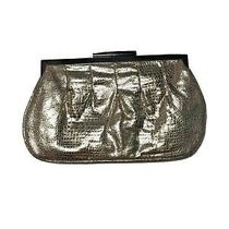 Aldo Womens Wallets Clutch Style Purse Gold Color With Gold Tone Metal Photo