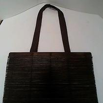 Aldo Wood Bamboo Tote Purse Bag - Brown Photo