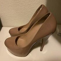 Alejandro Ingelmo Stunning Sophia Platform Blush Patent Leather Heels 38.5 8.5 Photo