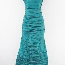 Alex Evenings Off Shoulder Crinkled Taffeta Gown Teal 16 Lulu Photo