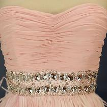 Alex & Sophia 220 Blush Evening Prom Formal Cruise Short Cruise Dress Size 5 Photo