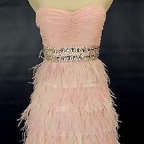 Alex & Sophia 220 Blush Evening Prom Formal Cruise Short Size 9 Cocktail Junior Photo