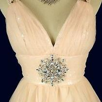 Alex & Sopkia 200 Blush Evening Prom Formal Cruise Short Cruise Dress Size 7 Photo