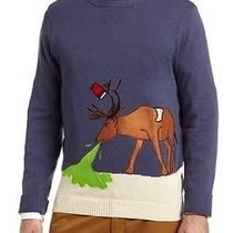 Alex Stevens Men's Reindeer Hangover Ugly Christmas Sweater Brand New Photo