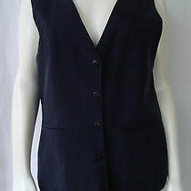 Alexander Campbell Career Navy Blue Vest 5 Button Front Imported Fabric Size 6 Photo