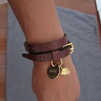 Alexander Mcqueen 245 Brown Leather Skull Double Wrap Bracelet. Nwt. Photo