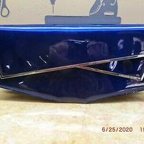 Alexander Mcqueen Bag Blue Shiny Clutch Photo