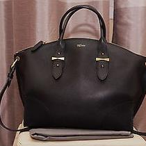 Alexander Mcqueen Black Grainy Leather Legend  Satchel Shoulder Tote Bag Photo