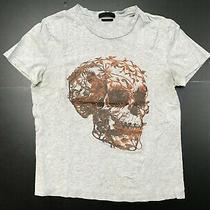 Alexander Mcqueen Cotton Ss Slim Fit Crewneck Skull Logo T-Shirt Size Small Photo