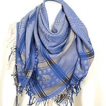 Alexander Mcqueen Desert Skull Fringes Pashmina Scarf Bnwt Perfect Gift Photo