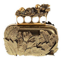 Alexander Mcqueen Gold Clutch  Photo