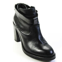 Alexander Mcqueen Leather High Heel Ankle Boots Black Size 40 10 Photo
