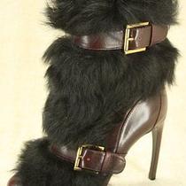 Alexander Mcqueen Mink Fur Harness Ankle Booties Size 36.5  New Belt Pumps 1895 Photo