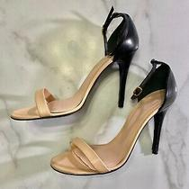 Alexander Mcqueen Nude and Black Strapy Heel Size 38 Photo