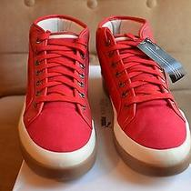 Alexander Mcqueen Puma Red Canvas Leather Formula One Rabble Mid Top Sneakers 44 Photo