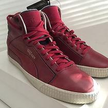 Alexander Mcqueen Puma Street Climb Ii Mid Leather Biking Red Sneakers Us 12 Photo