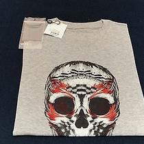 Alexander Mcqueen Red Grey Black Skull T Shirt Female 38 Small Women 206 Photo