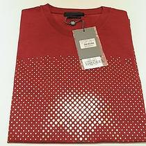 Alexander Mcqueen Red Shirt Gold Dots Skull  Detail Small New Auth 177 Photo