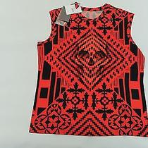 Alexander Mcqueen Red Skull Tank Cross Details Female 38 Small New Auth 159 Photo