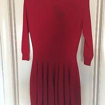 Alexander Mcqueen Red Sweater Dress Brand New Bnwt Small Photo