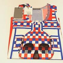 Alexander Mcqueen Red White Blue Tank Top Female 38 Small New Auth Rare 198 Photo