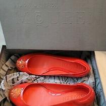Alexander Mcqueen Sequin Flats Orange 7.5 Nwb Photo