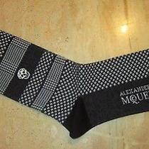 Alexander Mcqueen Skull Herringbone Tweed Black White Socks Free Shipping Photo