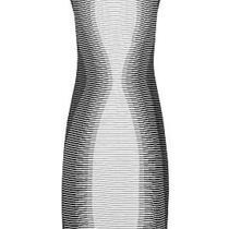 Alexander Mcqueen Striped Column Dress Black/white  Size 6 Photo