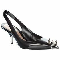 Alexander Mcqueen Studded Leather Slingback Pump Women's Photo