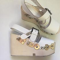 Alexander Mcqueen Wood and Leather Wedges Photo