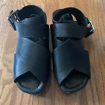 Alexander Wang Black Platform Sandals Size  6.5 Us 36.5 Eu Photo