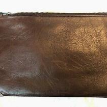 Alexander Wang Chocolate Brown Oversize Leather Clutch Bag Photo