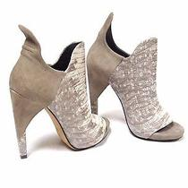 Alexander Wang Devon Leather Peep-Toe Booties Size  36 / 6
