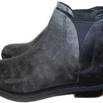 Alexander Wang Dewi Distressed Leather Ankle Boot Flat Bootie Shoes 37-7 Charcoa Photo