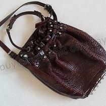 Alexander Wang 'Diego Bucket Bag' Shoulder Handbag Brick Patent Leather Studded Photo